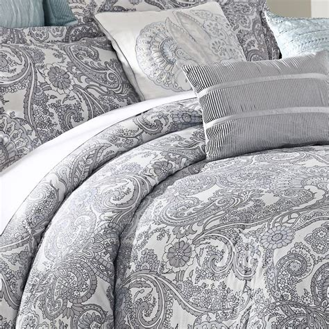 grey paisley bedding luxe lavender 9 piece comforter set