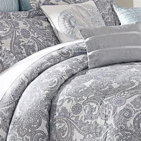 gray paisley comforter luxe lavender 9 piece comforter set
