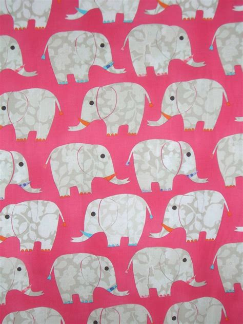 elephant print upholstery fabric pink elephant print pure cotton fabric from dear stellaone
