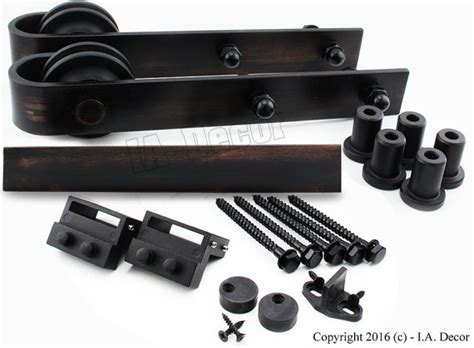 Bronze Hand Rubbed Barn Door Hardware Kit Hand Rubbed Bronze Rubbed Bronze Barn Door Hardware