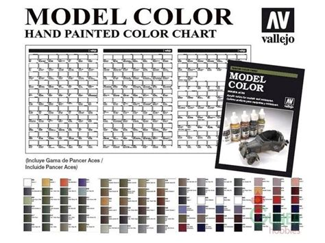 vallejo modelcolor and panzer aces painted color chart