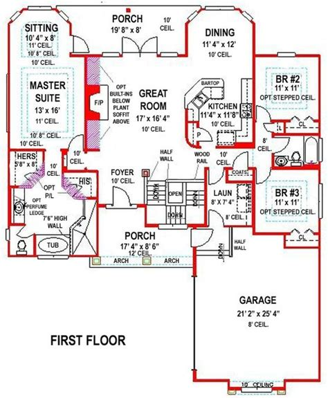 walk out basement floor plans 5 bedroom 3 bath southern house plan alp 099h
