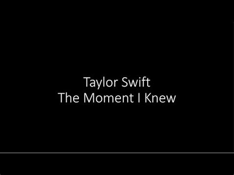 taylor swift and that was the moment i knew taylor swift the moment i knew official audio mp3