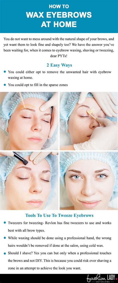 how to wax eyebrows at home beautician hacks unearthed