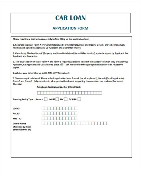 auto loan document template loan agreement form exle 65 free documents in word pdf