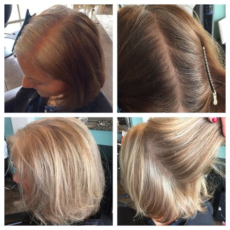 images grey and blond hair blend going from brown to blonde before and after www pixshark