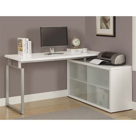 White Desk Corner Corner Computer Desk In White I 7036