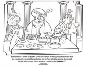 esther dinner party bible coloring pages what s in the