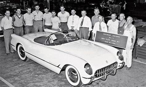 first chevy ever made the 1st ever chevrolet corvette was built 63 years ago
