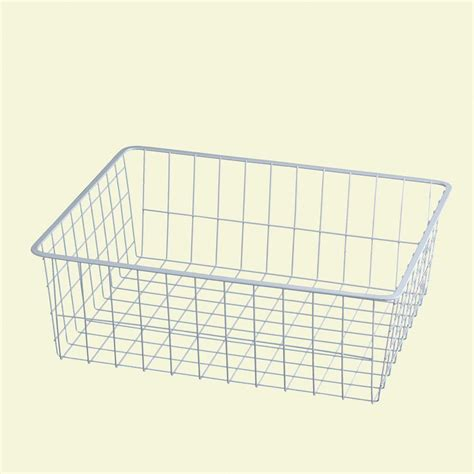 Closet Organizers Wire Baskets by Closetmaid 7 In H White Ventilated Wire Drawer 6209 The