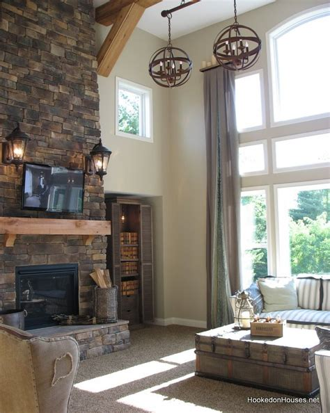 two story family room fischer wheatland model 2 hooked