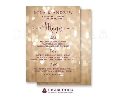bridal shower supper menu 17 best images about digibuddha menus wedding programs on rehearsal dinner