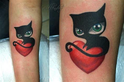 tattoo cat heart arm heart cat tattoo by lacute tattoo