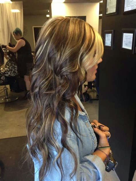 blonde hair with dark chunks brown with blonde chunks