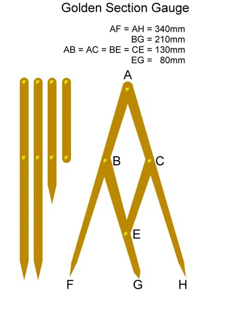 woodworking golden ratio excellent tool designed for proportionate sizes and shapes