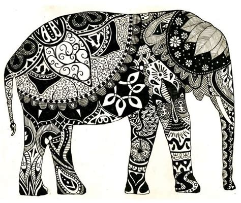 elephant zentangle tattoo elephant art henna ink drawing zentangles pinterest