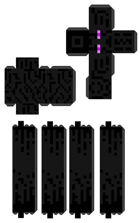 Papercraft Enderman - minecraft enderman papercraft minecraft seeds for pc