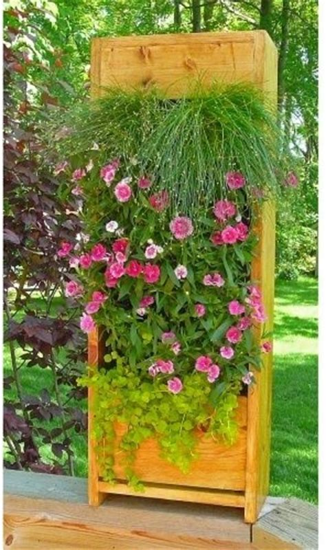 Outdoor Standing Clock With Planter by Free Standing Living Wall Unit Oak