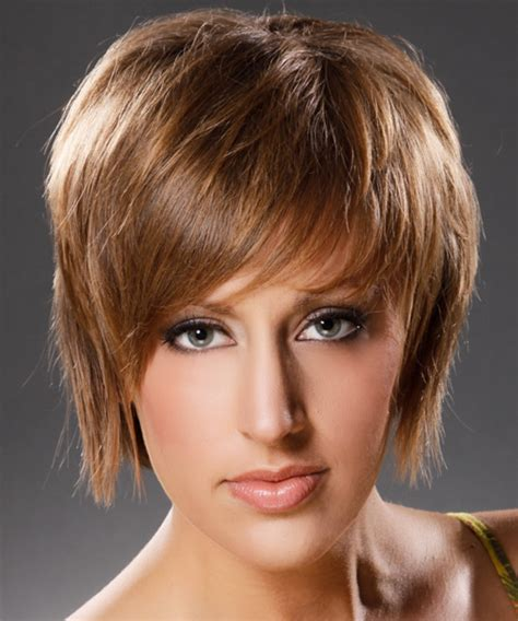 short straight casual hairstyle medium brunette caramel side short hairstyles and haircuts for women in 2018 page 7
