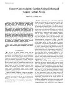 sensor pattern noise color source camera identification using enhanced sensor pattern