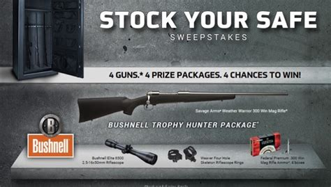 Closer Sweepstakes - stock your safe sweepstakes a closer look at the bushnell trophy hunting package