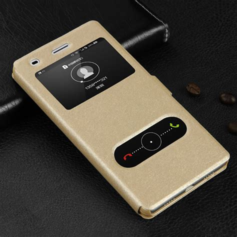 Garansi Huawei P8 Lite Flip Flip Cover huawei p8 lite leather high quality with window view protector flip cover for huawei