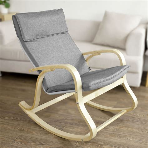 Comfortable Rocking Chair For Nursing by Sobuy 174 Wooden Rocking Chair Reclining Relax Nursing