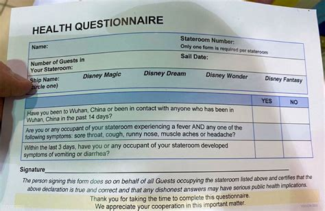 disney cruise  updates embarkation health