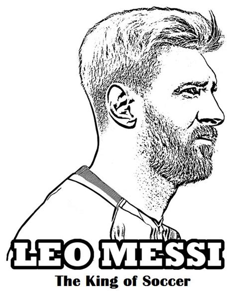 messi coloring pages messi the king of football soccer coloring page sport