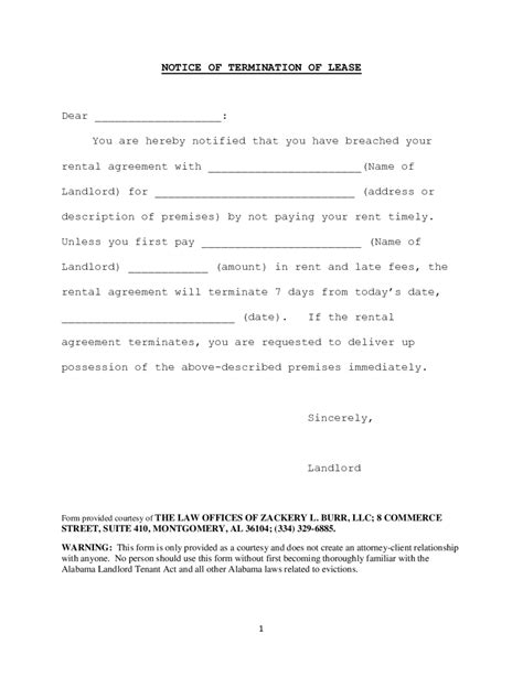 Landlord Termination Of Lease Letter Free 2018 lease termination form fillable printable pdf