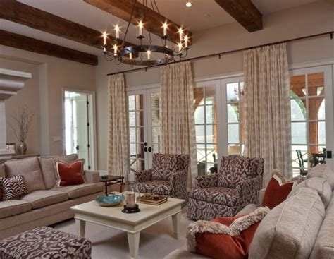 Chandelier For Living Room Vintage Chandelier Puts Crowning Touch On Soothing Living Room Barnlightelectric