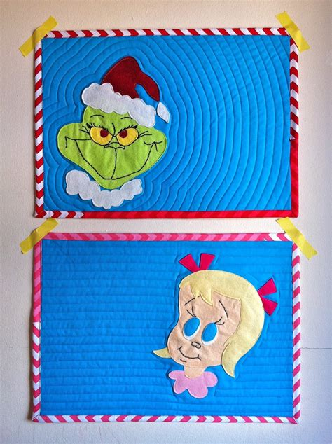 felt grinch pattern a little gray grinch placemats with free pattern