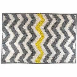 Yellow And Gray Bath Mat Mainstays Chevron Bath Rug Yellow 1 8 Quot X 2 6 Quot Walmart