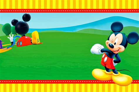 free mickey mouse invitation template mickey clubhouse invitations and free printables