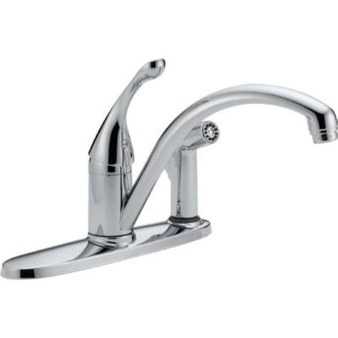 delta faucet 300lf wf classic single handle integral side delta classic single handle standard kitchen faucet with