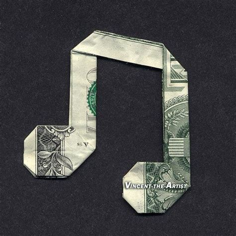 Origami Note - money origami note dollar bill made with