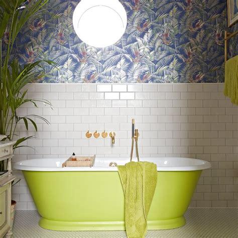 Bathroom Wallpaper Ideas Uk by Tropical Wallpaper Bathroom Wallpapers Housetohome Co Uk