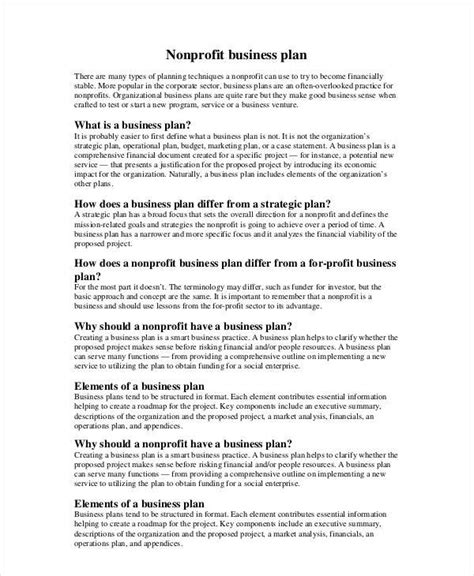 not for profit business plan template business plan template nonprofit noticierolegal template