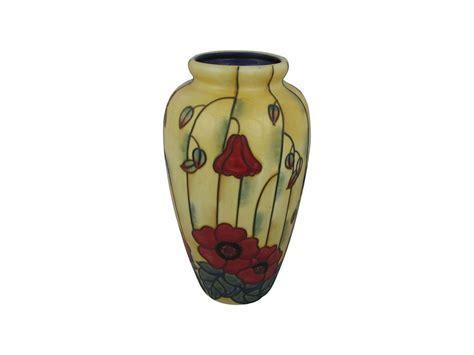 Old Tupton Ware 11 Inch Vase Yellow Poppy Design   Stoke