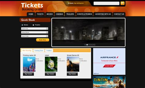 design online movie ticket system online movie ticket booking system