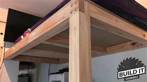 how to build a size loft bed with desk loft bed construction diy build it yourself 4k