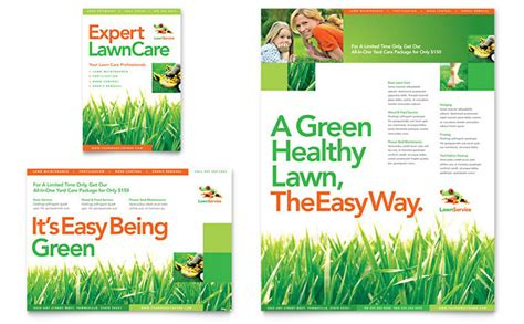 lawn care flyers templates lawn maintenance flyer ad template design