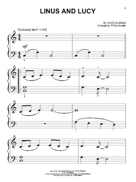 lyrics linus linus and sheet by vince guaraldi piano big