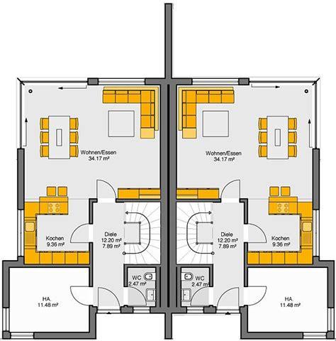 Grundriss Doppelhaus Ebenerdig fertighaus grundrisse doppelhaus emphit