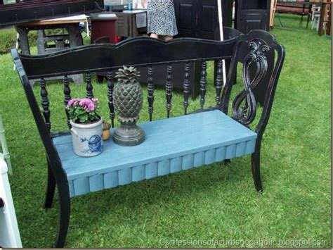 bench made from 2 chairs 32 new upcycled diy ideas for old headboards