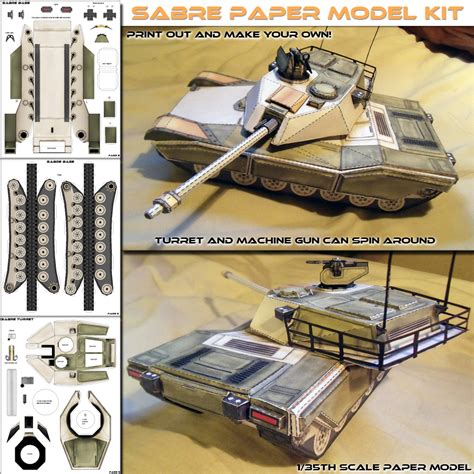Papercraft Model - sabre battle tank paper model po archives
