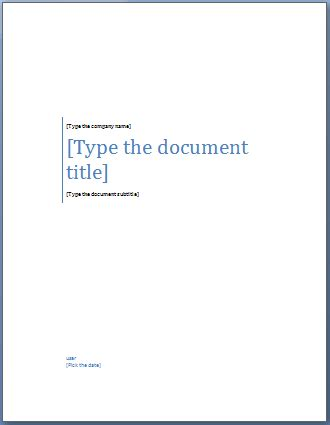 page template add a cover page to a word document