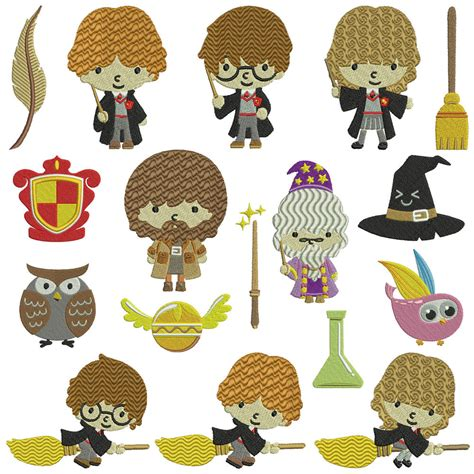 harry potter embroidery designs harry potter machine embroidery patterns 17 designs