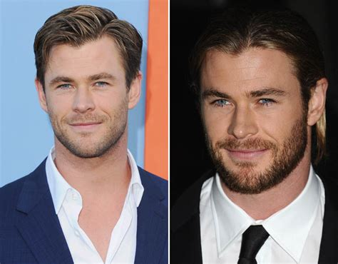 actor with full beard thor actor chris hemsworth looks mich sexier with a full