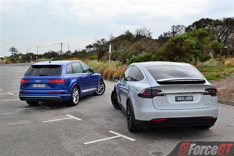audi model comparison fast suv comparison tesla model x p100d vs audi sq7